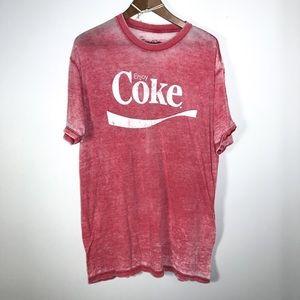 MENS COCA-COLA • Burnout T-Shirt | XL